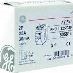 General Electric AUN605814 Interrupteur différentiel Compact 2 Pôles en 2 Modules 30 mA Type AC à Bornes étagées de la marque GE image 2 produit