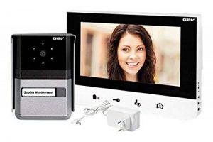GEV Interphone vidéo Sophia, 1pièce, 200x 145x 23mm, Argent, 088665 de la marque GEV image 0 produit