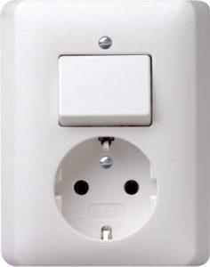 Gira 017604 Standard 55 Combinaison interrupteur à bascule/prise de courant Schuko, Blanc Satiné de la marque Gira image 0 produit