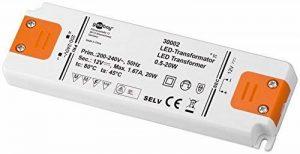Goobay 30002 Transformateur DEL Plastique Blanc 20 W 12V de la marque GOOBAY image 0 produit