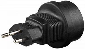 GOOBAY power adaptor - Schuko jack (Type F, CEE 7/4) > Switzerland plug (type J, SEV 1011) power adaptorSchuko jack (Type F, CEE 7/4) > Switzerland plug (type J, SEV 1011) de la marque GOOBAY image 0 produit