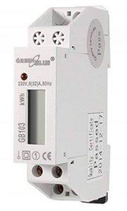 Green Blue GB103consommation d'énergie Tensiomètre Rail DIN Peau Wattmètre compteur électrique avec affichage LCD LED Compteur de la marque Green Blue image 0 produit
