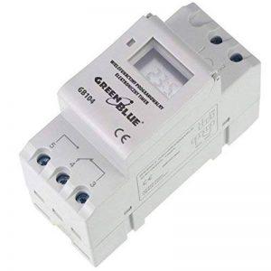 Green Blue GB104 Panneau sur Rail DIN 16A minuteur numérique Max 240 programmes de la marque Green Blue image 0 produit