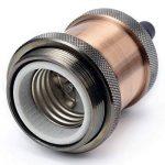 GreenSun 5× Edison Douille Vintage E27 Adaptateur De Lampe Rétro Vintage Lustre Sans Fil En Aluminium Céramique à L'intérieur Aluminium G12345 de la marque GreenSun image 3 produit