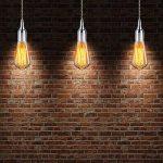 GreenSun LED Lighting Bouteille Style Edison E27 Titulaire Douille Socket Lampes Prise Rétro En Aluminium Support pour Pendentif Lumière Plafond Lampe DIY Adaptateur Accessoires D'éclairage, Argent de la marque GreenSun LED Lighting image 4 produit