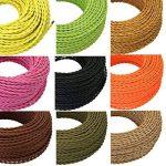 GreenSun LED Lighting Fils Electriques Torsadé Tissu Rétro, Câble électrique textile, câble de lumière de 2 fils, 2 x 0,75mm² (Marron, 5M) de la marque GreenSun LED Lighting image 3 produit