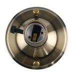 GreenSun Vintage pour Ampoule E27 Douille Culot de Lampe Avec Interrupteur pour DIY Aluminium Antique Rétro Lampe Adaptateur Suspendue Applique Murale Douilles Lot de 4 #I01 de la marque GreenSun image 4 produit