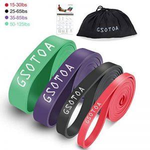 GSOTOA Elastique Resistance Musculation Unisexe Différentes Options de Résistance de la marque GSOTOA image 0 produit