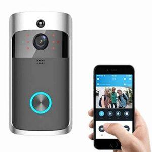 GUANGBO Sonnette sans Fil Intelligent WiFi Visible Sonnette À Distance Ménage Surveillance Vidéo Deux Sens Voix Interphone À Distance Capture de la marque GUANGBO image 0 produit