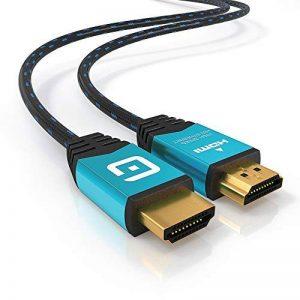 Guardien Câble HDMI 4K 3m - Ultra HD 2160p, Full HD 1080p, 3D, Arc, Ethernet - HDMI 2.0a/b, 2.0, 1.4a - Compatible PS4, PS3, Xbox One, Xbox 360, Apple TV - Triple Blindage tressé en Coton de la marque GUARDIEN image 0 produit