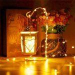Guirlande Lumineuse 200 micro LED intérieur Lumières féeriques de Noël- 20 mètres de longueur allumée, 3 mètres de fil conducteur. Blanc chaud, câble de cuivre guirlande micro led de la marque ANSIO image 4 produit