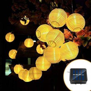 Guirlande Lumineuse Solaire,lanternes de jardin imperméables IP65, lumières de la lanterne chinoise (Blanc chaud) de la marque Shayson image 0 produit
