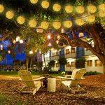 Guirlande Lumineuse Solaire,lanternes de jardin imperméables IP65, lumières de la lanterne chinoise (Blanc chaud) de la marque Shayson image 3 produit