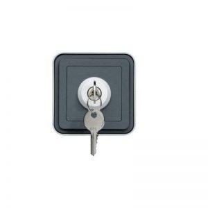 Hager Cubyko–Interrupteur étanche avec clé 3Position Surface gris de la marque Hager image 0 produit
