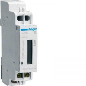 Hager EC050–Compteur d'énergie monophasé 230V, 32A, mesure directe de la marque Hager image 0 produit