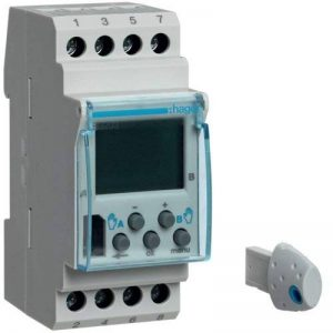 Hager EG203 Interrupteur horaire programmable 7jours à 2voies Inverseurs 16A 56pas de programme 230V de la marque Hager image 0 produit