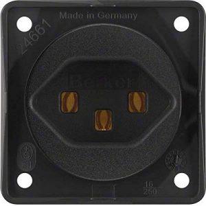 Hager iNTEGRO prise courant suisse tipo-23Noir mat de la marque Hager image 0 produit