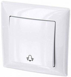 HAVA Bouton-poussoir avec symbole de sonnette - Tout en un - Cadre + insert encastré + couvercle (série G1 blanc pur) de la marque HAVA image 0 produit