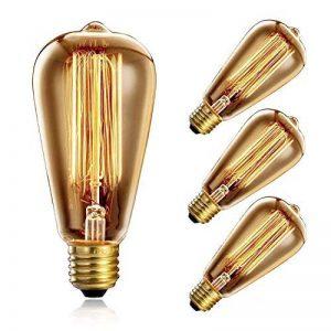 Heofean Lot de 4Ampoule Vintage 60W, E27à vis Edison Ampoule ST64Ampoule rétro (Ancien Style), Cage d'écureuil Filament de tungstène Lampe Antique en Verre | 2700K de la marque Heofean image 0 produit