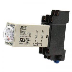Heschen avec minuteur Relais H3y-212VDC 0–3Minute 250VAC 5A 8pin terminal DPDT avec Dyf0835mm Rail DIN Socket Base de la marque Heschen image 0 produit
