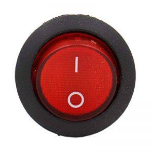 Heschen Rouge ronde Interrupteur à bascule rond on/off Spst 3bornes 10A 250VAC UL VDE Lot de 5 de la marque Heschen image 0 produit