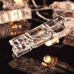 Hilai LED Photo Guirlandes Clip avec 50 Clips Guirlande Lumineuse Alimenté par USB Décoration d'intérieur Lumières pour accrocher Photos, Cartes et Illustrations (16,4 Ft, Blanc Chaud) de la marque Hilai image 3 produit