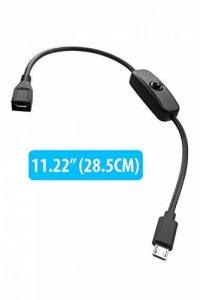 HomeSpot USB 2.0 à court Micro USB Câble de câble d'extension avec bouton de clic Mise sous tension pour Raspberry Pi Zero 3 iPhone Chargeur de câble pour tablette Smartphone de la marque HomeSpot image 0 produit