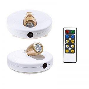 HONWELL Lumière LED Spot Sans Fil Lot de 2 Avec Télécommande et Lumière Blanche à Piles avec Lumières Rotatives et Tête collante pour Intérieur. de la marque HONWELL image 0 produit