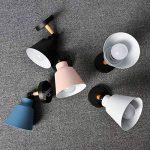 HOREVO Brossé Chrome LED Lampes Murales Chambre Lampe Paire Up Down Lampe Murale, Gradateur, Angle de Faisceau Réglable pour Salon Hall Chambre Jardin, Éclairage Chevet Décor À La Maison Luminaires Noir de la marque HOREVO image 3 produit