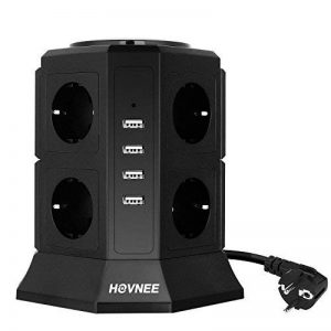 Hovnee Tour Multiprise, 8 Prises, 4 Ports USB Ligne en cuivre pur de 2 m Prise Multi-Ports, Protection contre les Surcharges et les Surtensions de la marque HOVNEE image 0 produit