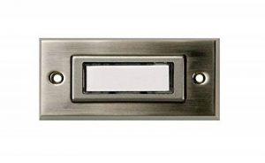 HUBER 12031 bouton de sonnette 1 sonnette, montage en saillie, rectangulaire, avec étiquette pour le nom de la marque Huber image 0 produit
