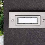 HUBER 12031 bouton de sonnette 1 sonnette, montage en saillie, rectangulaire, avec étiquette pour le nom de la marque Huber image 1 produit