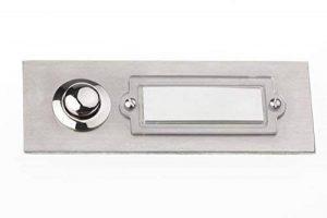 HUBER 12506 bouton de sonnette en acier inoxydable, 1 poche sous le plâtre-rectangulaire avec étiquette pour le nom de la marque Huber image 0 produit
