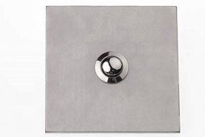 HUBER 12545 bouton de sonnette en acier inoxydable, 1 prise encastrée carré de 3 mm en acier inoxydable de la marque Huber image 0 produit