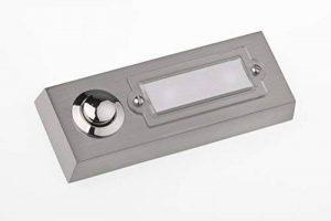 HUBER Bouton de sonnette bouton poussoir avec 1 boîtier d'encastrement rectangulaire métal et écriteau en polycarbonate, 42.00V de la marque Huber image 0 produit