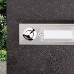 HUBER Bouton de sonnette bouton poussoir avec 1 boîtier d'encastrement rectangulaire métal et écriteau en polycarbonate, 42.00V de la marque Huber image 1 produit
