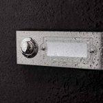 HUBER Bouton de sonnette bouton poussoir avec 1 boîtier d'encastrement rectangulaire métal et écriteau en polycarbonate, 42.00V de la marque Huber image 4 produit