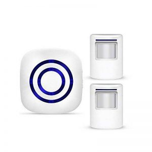 IDABAY Sonnette sans Fil Induction Détecteur Infrarouge Carillon Numérique Alarme De Mouvement Portail Maison Magasin Blanc de la marque IDABAY image 0 produit