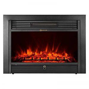 IKAYAA Cheminée électrique 3D Simulation de Flamme Thermostat Chauffage Réglable avec Télécommande et Timer Silencieux - 73 * 54 * 15cm(Noir) de la marque IKAYAA image 0 produit