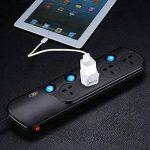 Incutex 2x adaptateurs universels de voyage, connecteur international vers 3 broches UK, blanc de la marque Incutex image 4 produit