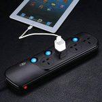 Incutex 2x adaptateurs universels de voyage, connecteur international vers 3 broches UK, noir de la marque Incutex image 4 produit