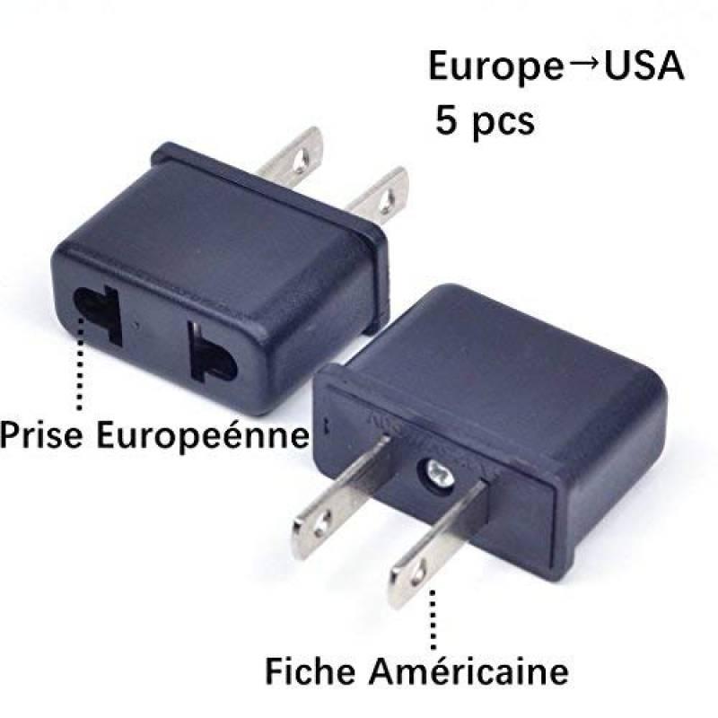 MP4, Adaptateur de fiche am/éricaine USA europ/éenne EU AUS /à Prise 2/p/ôles Italienne