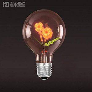 Injuicy Lighting G80 E27 Vintage Retro économie D'énergie Incandescent Ampoules Lampe Décorative Edison Ampoules de Noël Holiday Anniversaire Cadeau Décoration D'intérieur(Single Rose) de la marque Injuicy Lighting image 0 produit