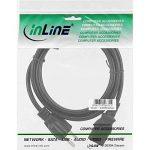 InLine 16651J 1m Prise d'alimentation Type B Coupleur C13 Noir câble électrique - Cables électriques (1 m, Mâle/Femelle, Prise d'alimentation Type B, Coupleur C13, Noir) de la marque InLine image 1 produit