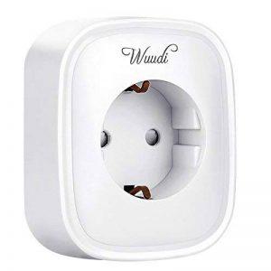 Intelligent Mesurer Prise, wuudi WiFi Smart Plug contrôle vos appareils. Par Housse de partout (Android et iOS, mesure la consommation d'électricité) Blanc et Alexa [Echo, Echo Dot] de la marque wuudi image 0 produit
