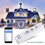 Intelligente Multiprise Télécommande Commutateur Minuteur Fonction avec 3 sorties AC intelligentes + 4 ports USB Compatible avec Amazon Alexa Google Home et IFTTT pour iOS Android Wifi 2,4 GHz de la marque BEYAWL image 4 produit