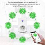 Intelligente Prise,Horsky Prise Connectée Intelligente WiFi Prise Compatible avec Android iOS Alexa Prises Télécommandées Prise Courant Intelligente Prise de Courant Mise en Veille Programmable Smart (WIFI Commande Prise) de la marque Horsky image 1 produit