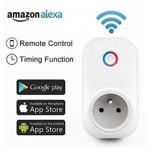 Intelligente Prise,Horsky Prise Connectée Intelligente WiFi Prise Compatible avec Android iOS Supporte Prises Télécommandées Prise Courant Intelligente Prise de Courant Mise en Veille Programmable 2.4G-Intelligente Socket Compatible avec Amazon Alexa-Pas image 0 produit