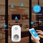 Intelligente Prise,Horsky Prise Connectée Intelligente WiFi Prise Compatible avec Android iOS Supporte Prises Télécommandées Prise Courant Intelligente Prise de Courant Mise en Veille Programmable 2.4G-Intelligente Socket Compatible avec Amazon Alexa-Pas image 3 produit