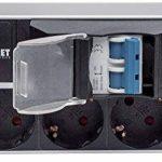 Intellinet Barre multiprise 48,3 cm 15 Prises Double Disjoncteur Aluminium, Schwarz de la marque Intellinet image 3 produit